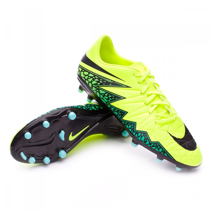 6cf8bfa9c Chuteira Nike HyperVenom Phelon II FG Volt-Black-Hyper turquoise-Clear jade  - Loja de futebol Fútbol Emotion