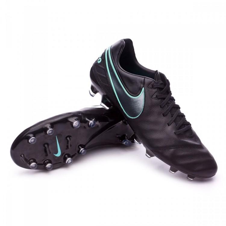 Bota de fútbol Nike Tiempo Legacy II FG Black-Hyper turquoise ... 803882ddc4996