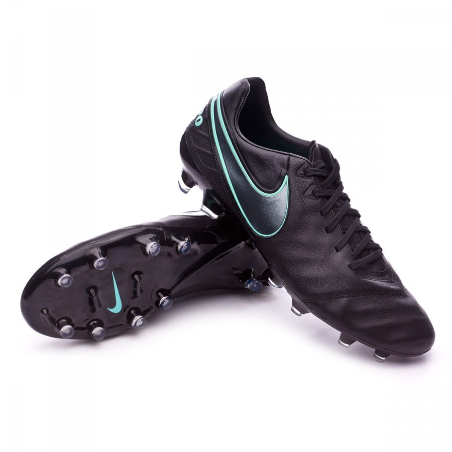 aabf9fcf3 Football Boots Nike Tiempo Legacy II FG Black-Hyper turquoise ...