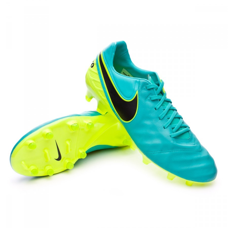 88d8ed0a1 Football Boots Nike Tiempo Legacy II FG Clear jade-Black-Volt ...