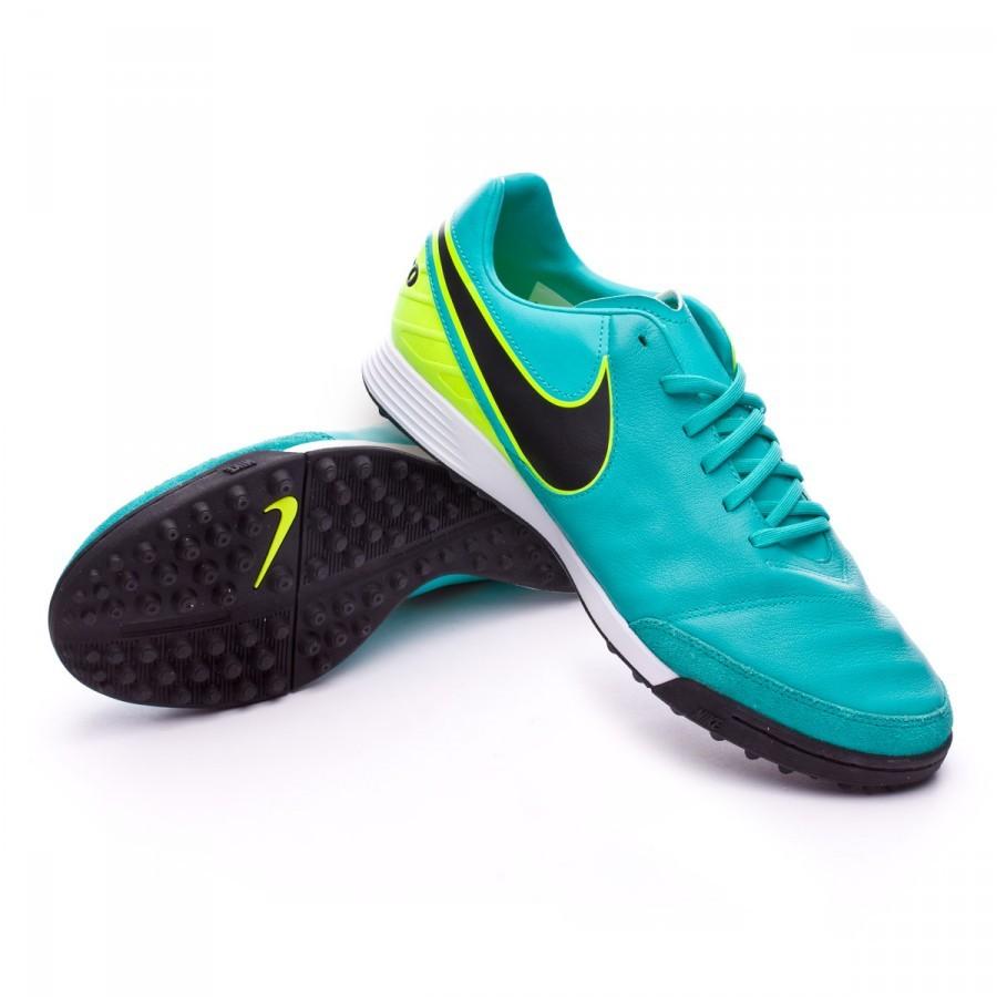 74e459850cb26 Tenis Nike TiempoX Mystic V Turf Clear jade-Black-Volt - Tienda de fútbol  Fútbol Emotion