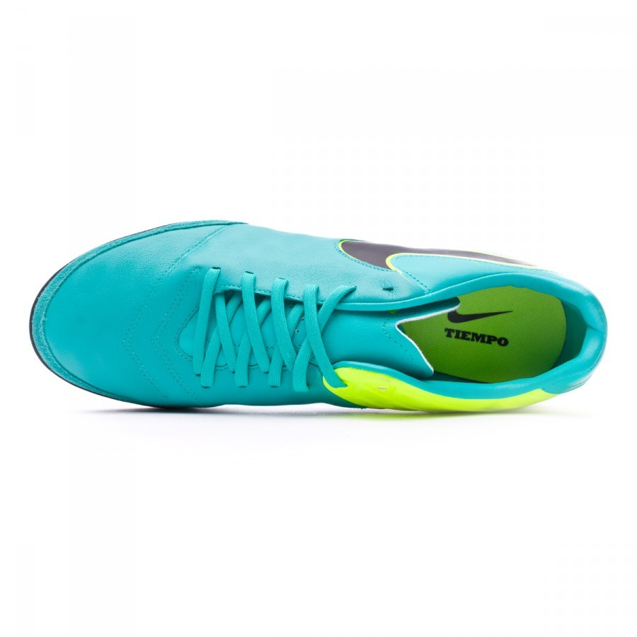 Zapatilla Nike TiempoX Mystic V Turf Clear jade-Black-Volt - Soloporteros  es ahora Fútbol Emotion 07f59a9003b13