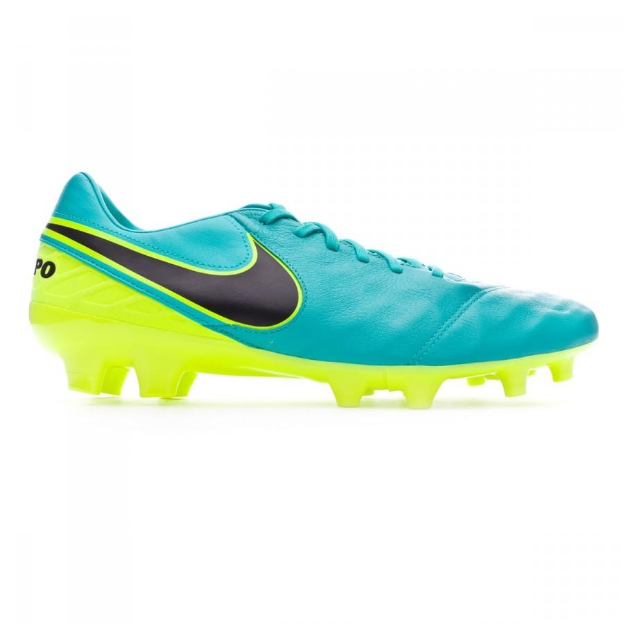 info for a942f f030f Chaussure de foot Nike Tiempo Mystic V FG Clear jade-Black-Volt - Boutique de  football Fútbol Emotion