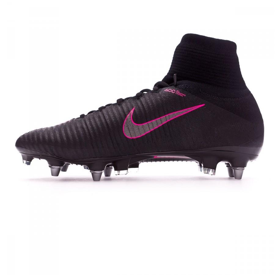 afb1ac40e187f Football Boots Nike Mercurial Superfly V ACC SG-Pro Black-Pink blast - Football  store Fútbol Emotion