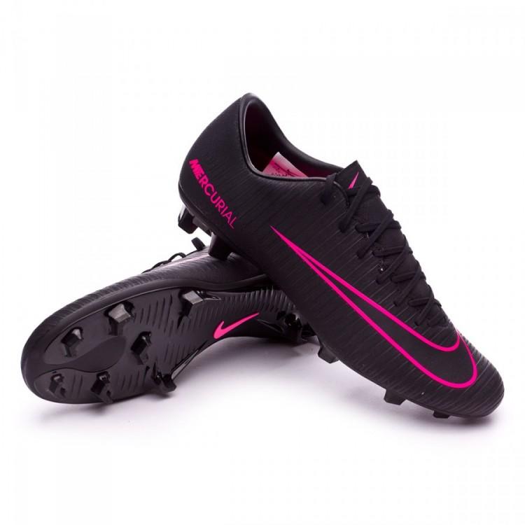 newest 455f9 225f2 bota-nike-mercurial-victory-vi-fg-black-pink-