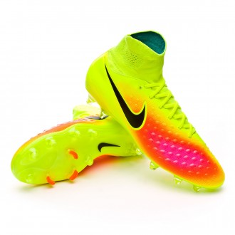 Bota  Nike Magista Orden II FG Volt-Black-Total orange-Pink blast