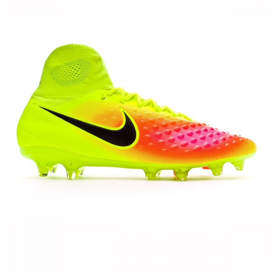 4985ac673a7ef Football Boots Nike Magista Orden II Dynamic Fit FG Volt-Black-Total  orange-Pink blast - Football store Fútbol Emotion