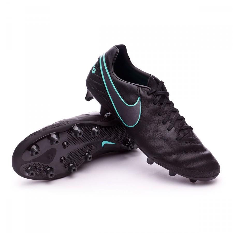 dbc411b6a Football Boots Nike Tiempo Mystic V AG-Pro Black-Hyper turquoise ...