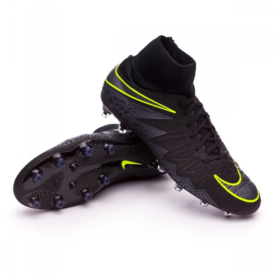 the latest a2a13 ebc86 Nike HyperVenom Phatal II Dynamic Fit AG-Pro Boot. Black-Metallic hematite-Volt  ...