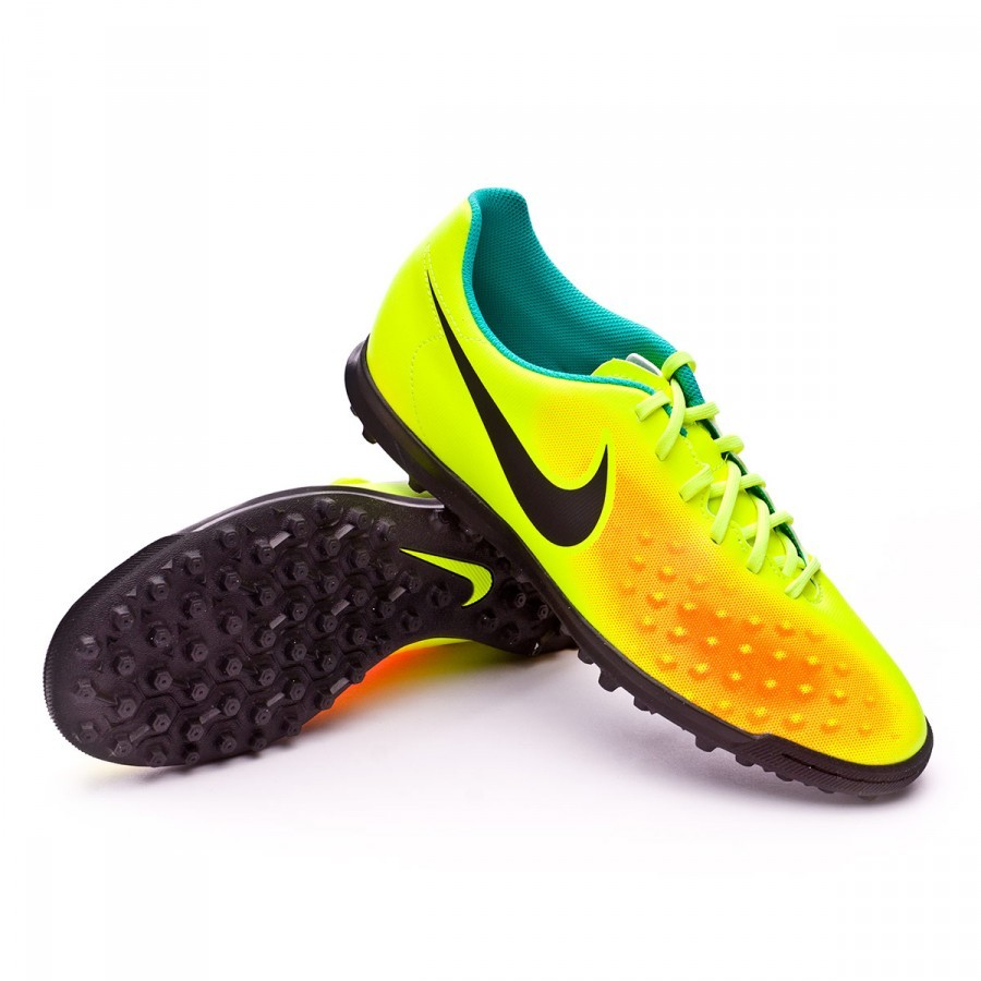 e84643b68486 Football Boot Nike MagistaX Ola II Turf Volt-Black-Total orange ...