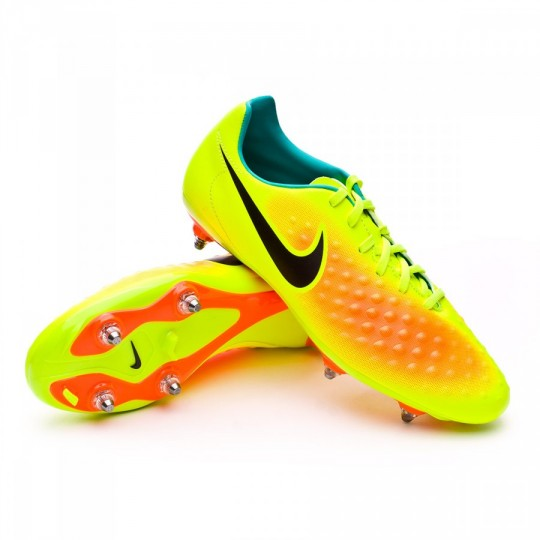 Chuteira  Nike Magista Onda II SG Volt-Black-Total orange-Clear jade