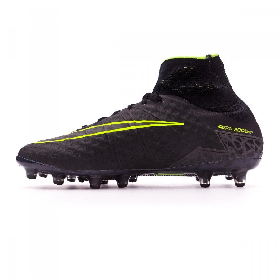1b9cbfcd2 Football Boots Nike Hypervenom Phantom II AG-Pro Black-Volt - Football  store Fútbol Emotion