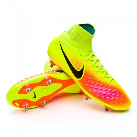 Bota  Nike Magista Orden II DF SG Volt-Black-Total orange-Hyper turquoise