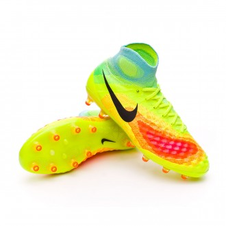 Bota  Nike Magista Obra II ACC AG-Pro Volt-Black-Total orange-Pink blast