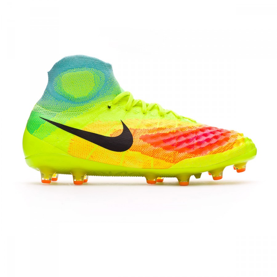 bc3638c083 Chuteira Nike Magista Obra II ACC AG-Pro Volt-Black-Total orange ...