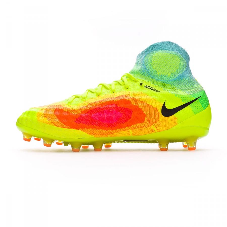 0dc3ac94318b Football Boots Nike Magista Obra II ACC AG-Pro Volt-Black-Total orange-Pink  blast - Football store Fútbol Emotion