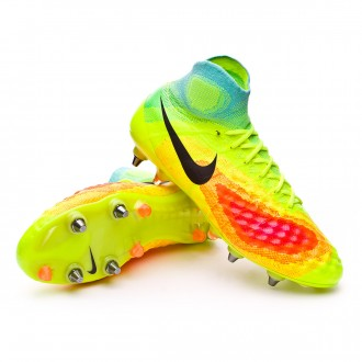 Bota  Nike Magista Obra II ACC SG-Pro Volt-Black-Total orange-Pink blast