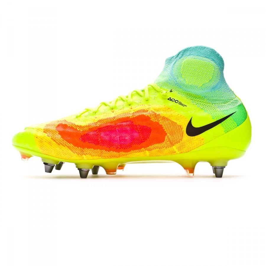 0e4668e22 Football Boots Nike Magista Obra II ACC SG-Pro Volt-Black-Total orange-Pink  blast - Football store Fútbol Emotion
