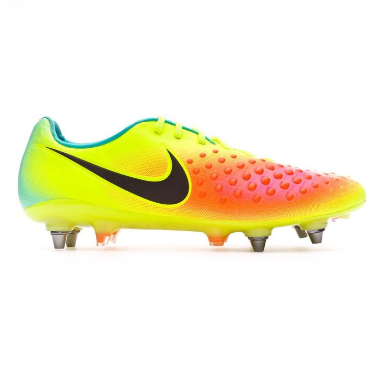 Chuteira Nike Magista Opus II ACC SG-Pro Volt-Black-Total orange ... c41b9cf4ffe81