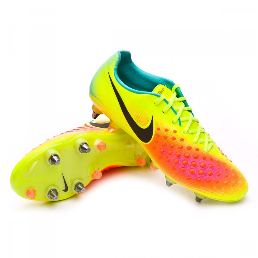 d7aa4304471f Nike Magista Opus II ACC SG-Pro Football Boots. Volt-Black-Total orange-Pink  blast ...