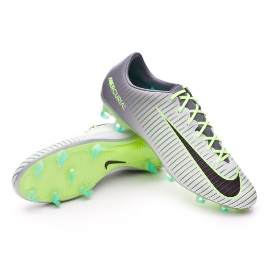 Chuteira  Nike Mercurial Veloce III FG Pure platinium-Black-Ghost green-Clear jade
