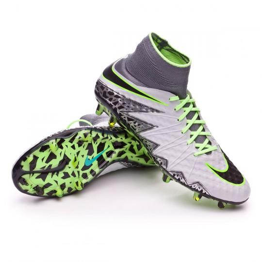 Chuteira  Nike HyperVenom Phantom II ACC FG Pure platinium-Black-Ghost green-Clear grey