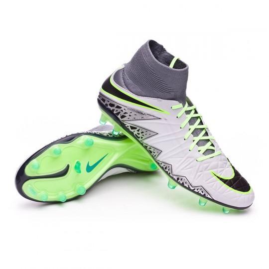Chuteira  Nike HyperVenom Phatal II Dynamic Fit FG Pure platinium-Black-Ghost green-Clear grey