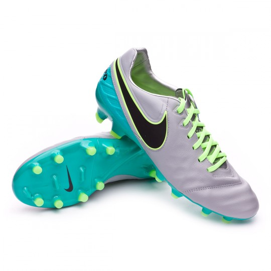 Chuteira  Nike Tiempo Legacy II FG Wolf grey-Black-Clear jade-Hyper turquoise