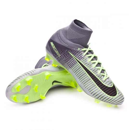 Chuteira  Nike Mercurial Superfly V ACC FG Pure platinium-Black-Ghost green-Hyper turquo