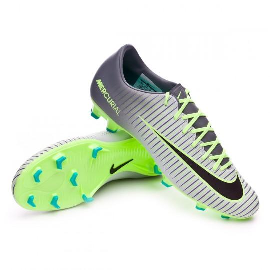 Chuteira  Nike Mercurial Victory VI FG Pure platinium-Black-Ghost green-Clear jade