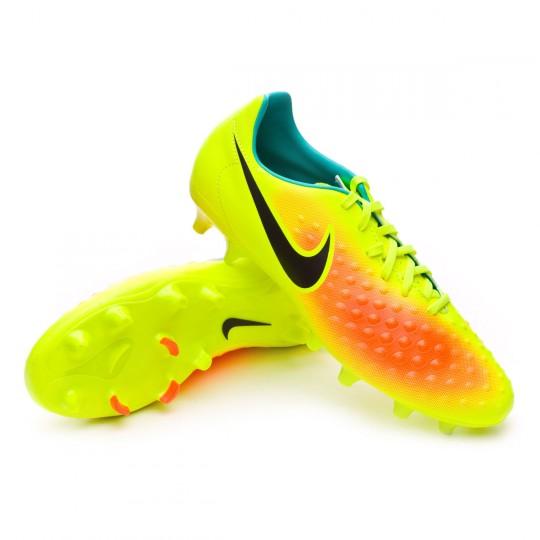 Chuteira  Nike Magista Onda II FG Volt-Black-Total orange-Clear jade