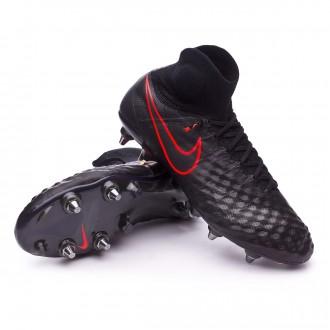Chuteira  Nike Magista Obra II ACC SG-Pro Black-Total crimson