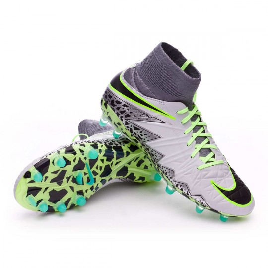 Chuteira  Nike jr HyperVenom Phantom II ACC FG Pure platinium-Black-Ghost green-Clear grey