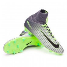 jr Mercurial Superfly V ACC FG Pure platinium-Black-Ghost green-Clear grey