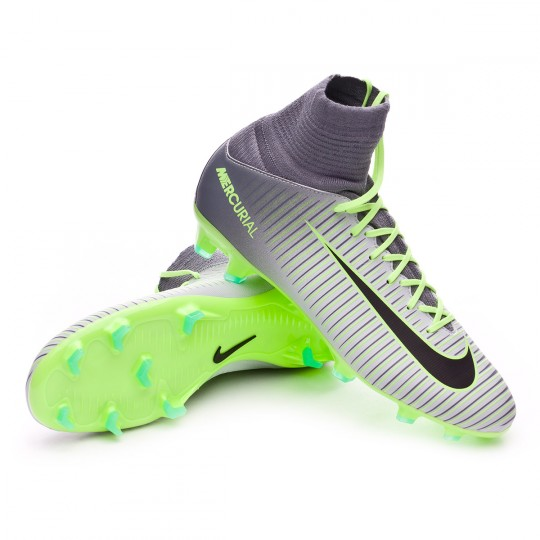 Chuteira  Nike jr Mercurial Superfly V ACC FG Pure platinium-Black-Ghost green-Clear grey
