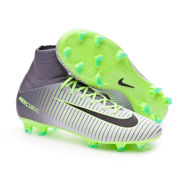 b945f19c603 Football Boots Nike Kids Mercurial Superfly V ACC FG Pure platinium-Black-Ghost  green-Clear grey - Football store Fútbol Emotion