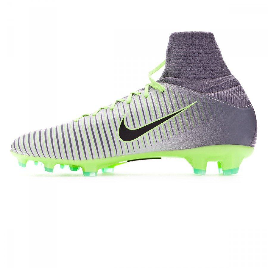 size 40 d5d53 49e70 Football Boots Nike Kids Mercurial Superfly V ACC FG Pure  platinium-Black-Ghost green-Clear grey - Football store Fútbol Emotion