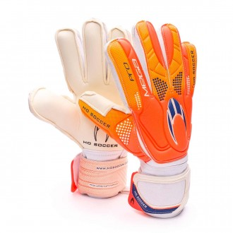 Luvas  HO Soccer Pro Mega Flat Orange-Blue-White