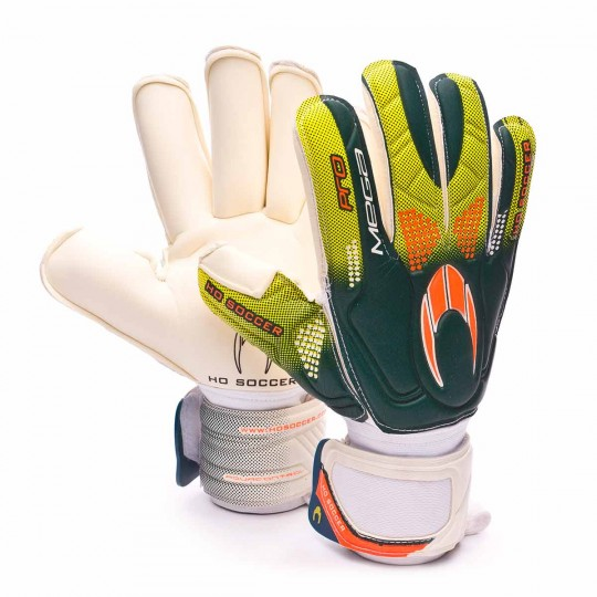 Luvas  HO Soccer Pro Mega Rollfinger White-Green-Orange