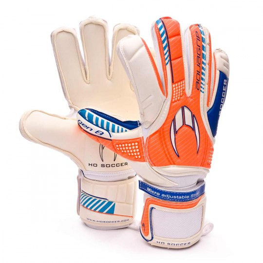 Guante  HO Soccer Aquagrip gen8 White-Orange-Blue