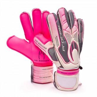 Guante  HO Soccer Protek Flat White-Grey-Pink