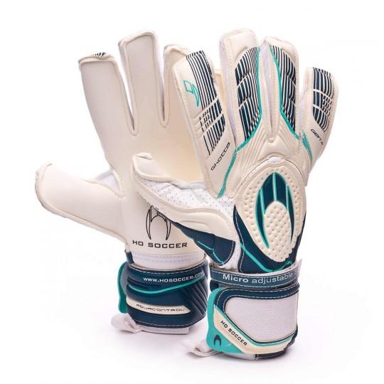 Luvas  HO Soccer Ghotta Roll-Flat gen4 White-Navy-Ciano