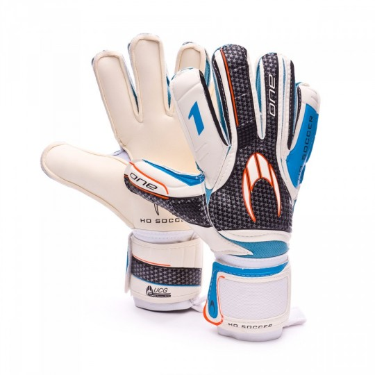 Guante  HO Soccer One Flat White-Grey-Blue