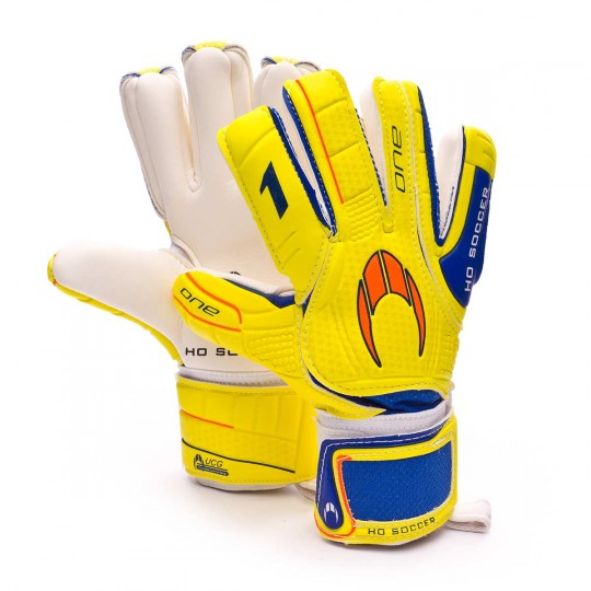 Luvas  HO Soccer One Negative Yellow-Blue-Orange