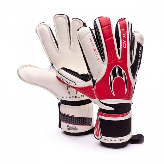 Guante  HO Soccer One Protek Flat White-Red-Black