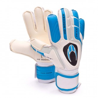 Luvas  HO Soccer Pro Saver Duo White-Blue-Grey