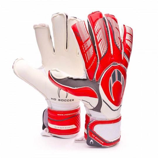 Guante  HO Soccer SSG Ghotta Roll-Flat Protek gen4 White-Red-Grey