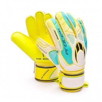 Luvas  HO Soccer Basic Protek Lime White-Yellow-Ciano