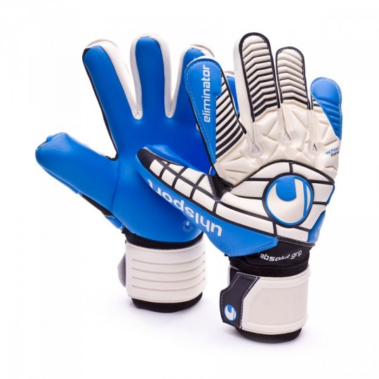 Guante  Uhlsport Eliminator Absolutgrip HN White-Black-Energy blue