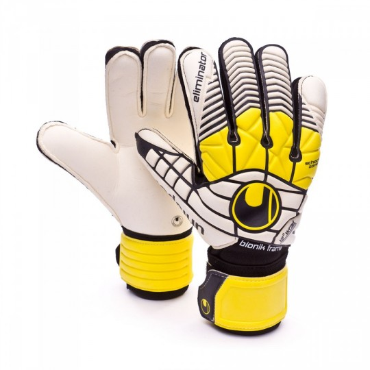 Luvas  Uhlsport Eliminator Supersoft Bionik Black-Yellow-White